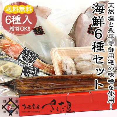 国産鰻の蒲焼きが1尾入った豪華な詰め合わせ魚介6種セットウナギ一塩干し味噌漬け大粒牡蠣