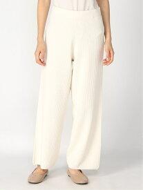 [Rakuten Fashion]【SALE/50%OFF】ホソミエリブニットパンツ 大きいサイズ ゆったり 体形カバー Elura エルーラ パンツ/ジーンズ フルレングス ホワイト ネイビー ベージュ【RBA_E】