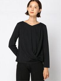 【SALE/50%OFF】ドレープTシャツ 大きいサイズ ゆったり 体形カバー Elura エルーラ カットソー Tシャツ ブラック ホワイト ブルー【RBA_E】[Rakuten Fashion]
