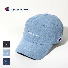 チャンピオン Champion デニム ローキャップ 帽子 インディゴ 刺繍 ロゴ レディース メンズ ユニセックス 381-0136