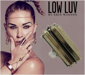 [LOW LUV×ERIN WASSON/ロウラヴ]METAL CRYSTAL RING