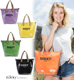 [NIKKY by NICOLE LEE/ニッキー,ニコールリー]PERLA TOTE BAG / ハンドバッグ 2way ショルダーバッグ クリアバッグ パープル ブラック グリーン イエロー オレンジ