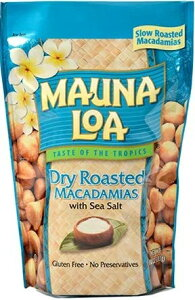 マウナロア 塩味 マカデミアナッツ Lサイズ 283g ハワイ土産 お土産 おみやげ プレゼント マカダミアナッツ 大袋 大容量