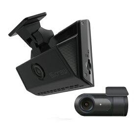 ドライブレコーダー S-crew タッチパネル搭載コンパクト 前後2カメラ (FHD+FHD) ISDR-500