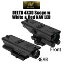 【NcSTAR】DELTA 4X30 スコープw/ホワイト &レッド NAV LED