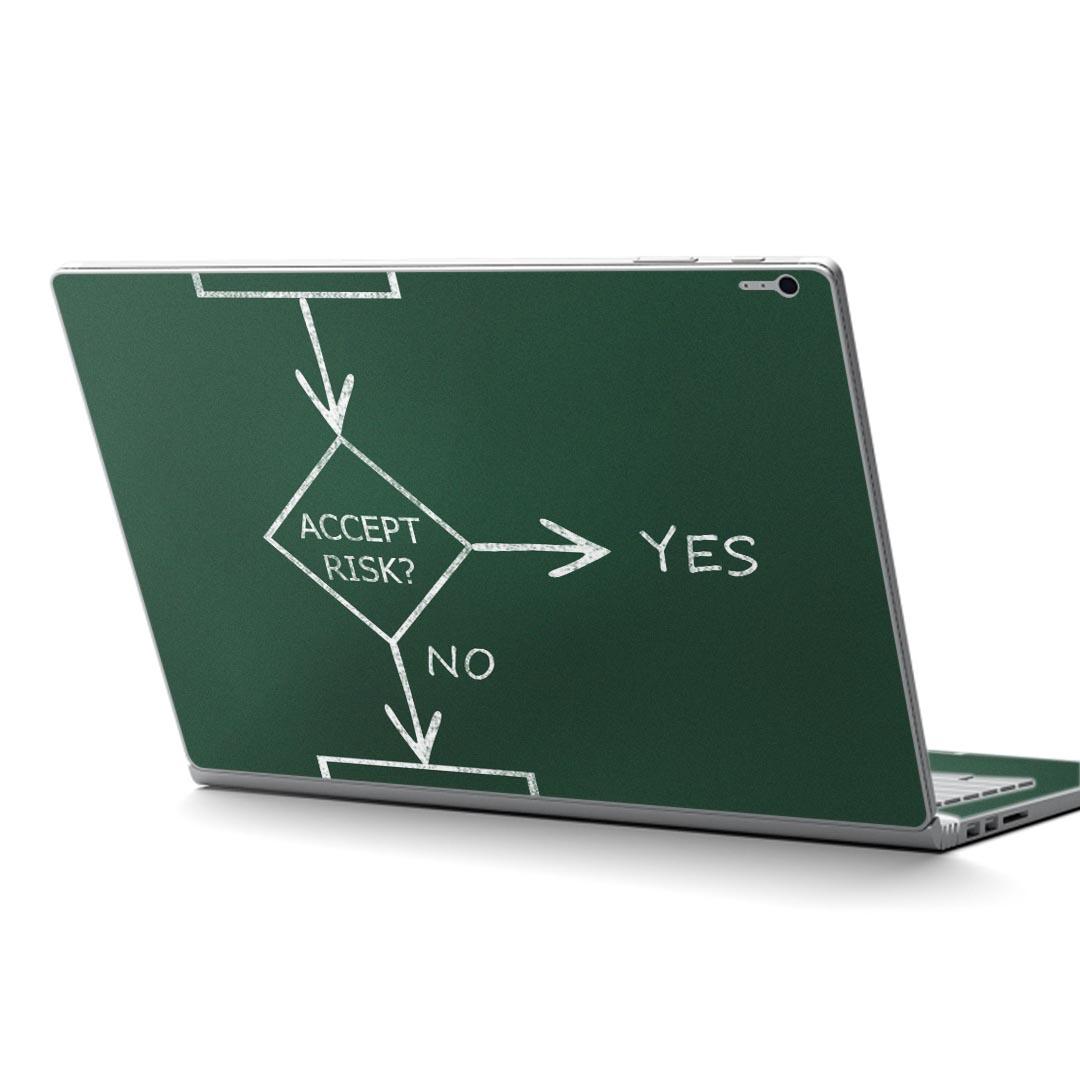 Surface Book2 13.5inch 15inch インチ 専用スキンシール Microsoft サーフェス サーフィス ノートブック ノートパソコン カバー ケース フィルム ステッカー アクセサリー 保護 000872 黒板 イラスト