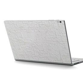 Surface Book2 13.5inch 15inch インチ 専用スキンシール Microsoft サーフェス サーフィス ノートブック ノートパソコン カバー ケース フィルム ステッカー アクセサリー 保護 009667 壁紙 白 シンプル