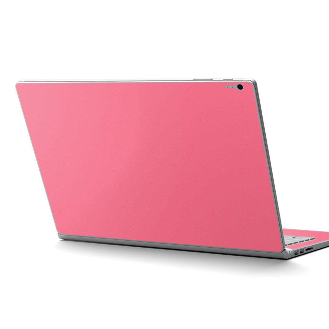 Surface Book2 13.5inch 15inch インチ 専用スキンシール Microsoft サーフェス サーフィス ノートブック ノートパソコン カバー ケース フィルム ステッカー アクセサリー 保護 012232 ピンク 単色 シンプル