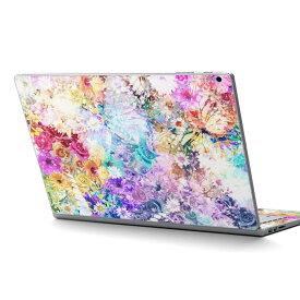 Surface Book2 13.5inch 15inch インチ 専用スキンシール Microsoft サーフェス サーフィス ノートブック ノートパソコン カバー ケース フィルム ステッカー アクセサリー 保護 012478 花 蝶 綺麗