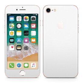 iPhone7 対応 アイフォン 全面スキンシール フル 背面 側面 正面 液晶 スマホケース ステッカー スマホカバー ケース 保護シール スマホ スマートフォン 人気 004273 白 シンプル 無地