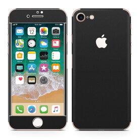 iPhone8 対応 アイフォン 全面スキンシール フル 背面 側面 正面 液晶 スマホケース ステッカー スマホカバー ケース 保護シール スマホ スマートフォン 人気 009016 シンプル 無地 黒