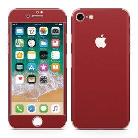 iPhone7 対応 アイフォン 全面スキンシール フル 背面 側面 正面 液晶 スマホケース ステッカー スマホカバー ケース 保護シール スマホ スマートフォン 人気 009021 シンプル 無地 赤