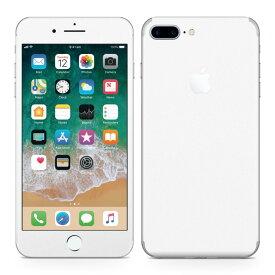 iPhone7 Plus 対応 アイフォン 全面スキンシール フル 背面 側面 正面 液晶 スマホケース ステッカー スマホカバー ケース 保護シール スマホ スマートフォン 人気 004273 白 シンプル 無地