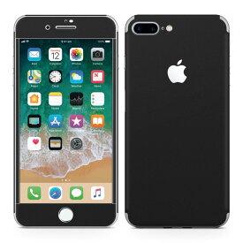 iPhone7 Plus 対応 アイフォン 全面スキンシール フル 背面 側面 正面 液晶 スマホケース ステッカー スマホカバー ケース 保護シール スマホ スマートフォン 人気 009016 シンプル 無地 黒