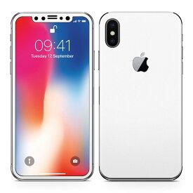 iPhoneX 対応 アイフォン テン 全面スキンシール フル 背面 側面 正面 液晶 スマホケース ステッカー スマホカバー ケース 保護シール スマホ スマートフォン 人気 004273 白 シンプル 無地