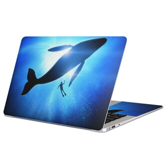 Skin seal Mac book 13inch 15inch 13 inches 15 inches Mac Book Pro Air 2018 Retina Surface Pro4 Pro5 Pro6 surface note PC cover case film sticker accessories protection 012663 whale silhouette diving for exclusive use of MacBook / Surface