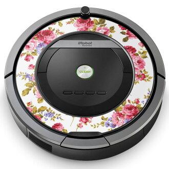 伦巴舞Roomba iRobot专用的皮肤密封罩情况保护firumusutekkadekoakusesari吸尘器家电008837花花花粉红玫瑰花