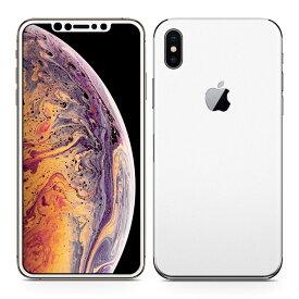 igsticker iPhone Xs Max iphonexsmax 対応 apple アップル アイフォン アイフォーン 全面スキンシール フル 背面 側面 正面 液晶 スマホケース ステッカー スマホカバー ケース 保護シール スマホ スマートフォン 人気 004273 白 シンプル 無地