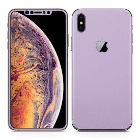 igsticker iPhone Xs Max iphonexsmax 対応 apple アップル アイフォン アイフォーン 全面スキンシール フル 背面 側面 正面 液晶 スマホケース ステッカー スマホカバー ケース 保護シール スマホ スマートフォン 人気 009022 シンプル 無地 紫