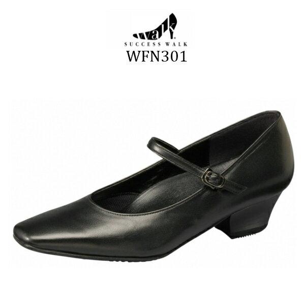 【wacoal/ワコール】【success walk/サクセスウォーク】【送料無料】WFN301 ビジネスパンプス スクエア・トゥタイプ ヒール3.5cm 足囲E-EE