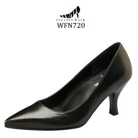 【wacoal/ワコール】【success walk/サクセスウォーク】【送料無料】WFN720 ビジネスパンプス ポインテッドトゥタイプ 7cmヒール 足囲D-2E