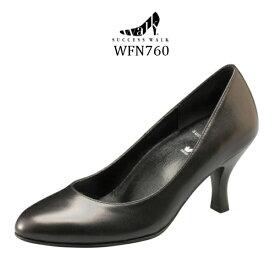 【wacoal/ワコール】【success walk/サクセスウォーク】【送料無料】WFN760 ビジネスパンプス ラウンド トゥ タイプ ヒール7cm 足囲C-EEE