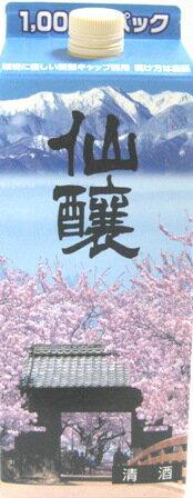 仙醸 1000円パック 1100ml紙パック桜で有名な信州高遠の地酒です!1.1L