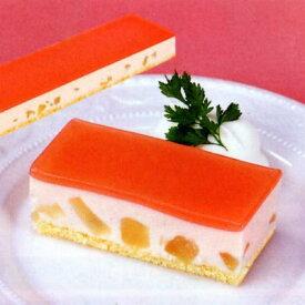白桃ムースすぐ解凍でいつでも食べられるフリーカット ケーキ550g 約7×36cmプロ仕様 フレック味の素