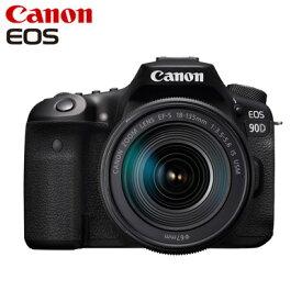 【返品OK!条件付】Canon キヤノン デジタル一眼レフ EOS 90D EF-S18-135 IS USM レンズキット EOS90D18135ISUSMLK【KK9N0D18P】【80サイズ】