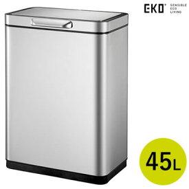 【返品OK!条件付】正規販売店 EKO 45L タッチバー式ゴミ箱 イータッチエレクトリックタッチビン EK9180RMT-45L シルバー【KK9N0D18P】【160サイズ】