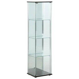 【返品OK!条件付】不二貿易 ガラスコレクションケース 4段 背面ミラー付き 組立品 fj-96046【KK9N0D18P】【220サイズ】