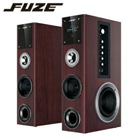 【返品OK!条件付】FUZE スピーカー Bluetooth対応 アンプ内蔵 デュアルウーファータワースピーカー TSX250BT 木目調 フューズ 【KK9N0D18P】【100サイズ】