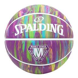 【返品OK!条件付】正規販売店 スポルディング バスケットボール マーブル パープル ラバー 7号球 84-403Z【KK9N0D18P】