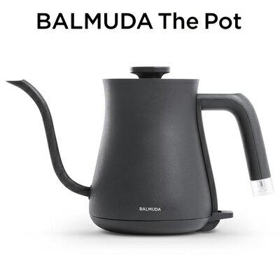バルミューダ ステンレス製 電気ケトル 0.6L ブラック BALMUDA The Pot600ml コンパクト 湯沸し ポット コーヒー3杯 カップヌードル2杯 細いノズル ハンドドリップ 珈琲 紅茶 ティータイム 【KK9N0D18P】