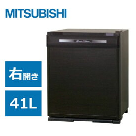 【返品OK!条件付】三菱 電子冷蔵庫 41L 1ドア グランペルチェ 右開き RK-41B-K 木目調 【KK9N0D18P】【260サイズ】