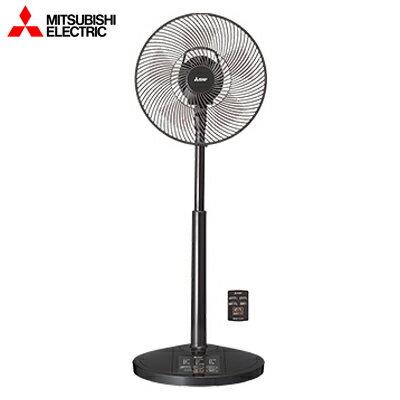 【返品OK!条件付】三菱 ACモーター扇風機 ハイポジション扇 リモコン付タイプ R30J-HRW-K ラスターブラック【KK9N0D18P】【200サイズ】