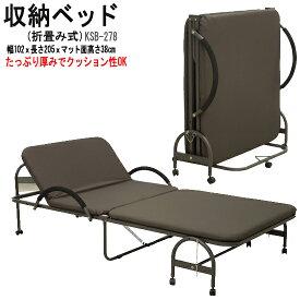 収納ベッド(折りたたみベッド)(ksb-278)ds651-5[tw]