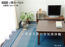 い草ラグ 140x200cm さわやか&純国産 (ランクス総色) kh825-2 [01]