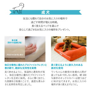 パピー、成犬、シニアの年代に合わせて選べるペット用3Dベッド