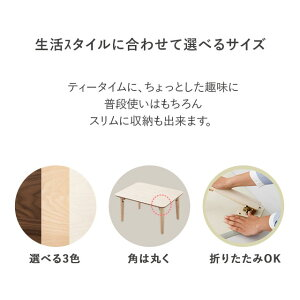 小ぶりの折りたたみテーブル長方形