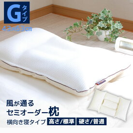 枕職人がつくった丸ごと洗えるハニカムメッシュ枕Gタイプ/3パーツ5部屋(横向き寝)43×63cm/高さ:普通/アクアビーズ(硬さ:普通)【50以下】
