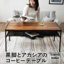 ローテーブル テーブル センターテーブル コーヒーテーブル 棚付き 木製 スチール リビングテーブル table りびんぐてーぶる ソファーテーブル 収納テーブル ソファテーブル ビンテージ 収納 一人暮らし 北欧 おしゃれ 送料無料 東京家具