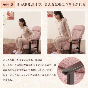 高座椅子「きらく」肘付きリクライニングチェア