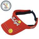 【NEWモデル】ブルーティーゴルフサンバイザースマイルコットンバイザー(VS-001レッド)57〜59cmメンズキャップ/レディースキャップ/帽子/キャップ/バイザー【送料無料】(メーカー取寄せ)