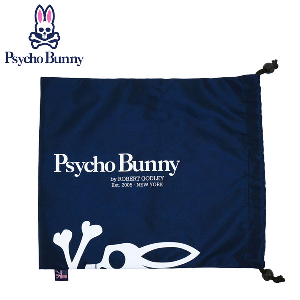 サイコバニー(Psycho Bunny)ゴルフ シューズケース/マルチポーチ PB マルチ巾着(PBMG6SE2-30)日本正規品【W30×H34cm/ユニセックスモデル】【ポイント10倍】※即納・メーカー取寄※