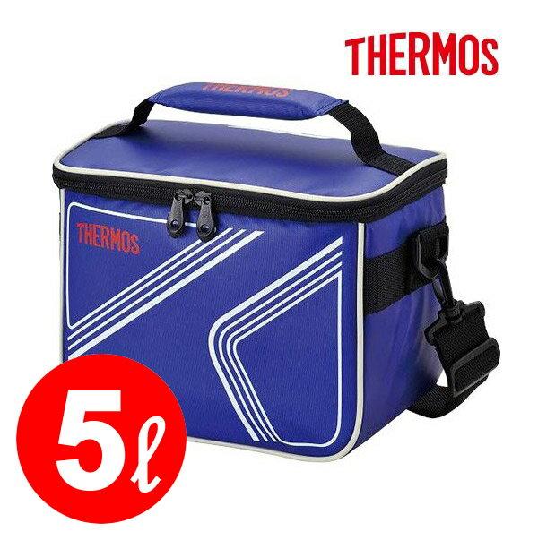 保冷バッグ 【サーモス】クーラーボックス【THERMOS】ソフトクーラー 5L(REI-005 カラー:ブルー)【断熱構造が冷たさをキープ】◎5リットル◎お弁当を入れるのにも便利なコンパクトサイズアウトドア/クーラーボックス/保冷ボックス※即納・メーカー取寄せ※