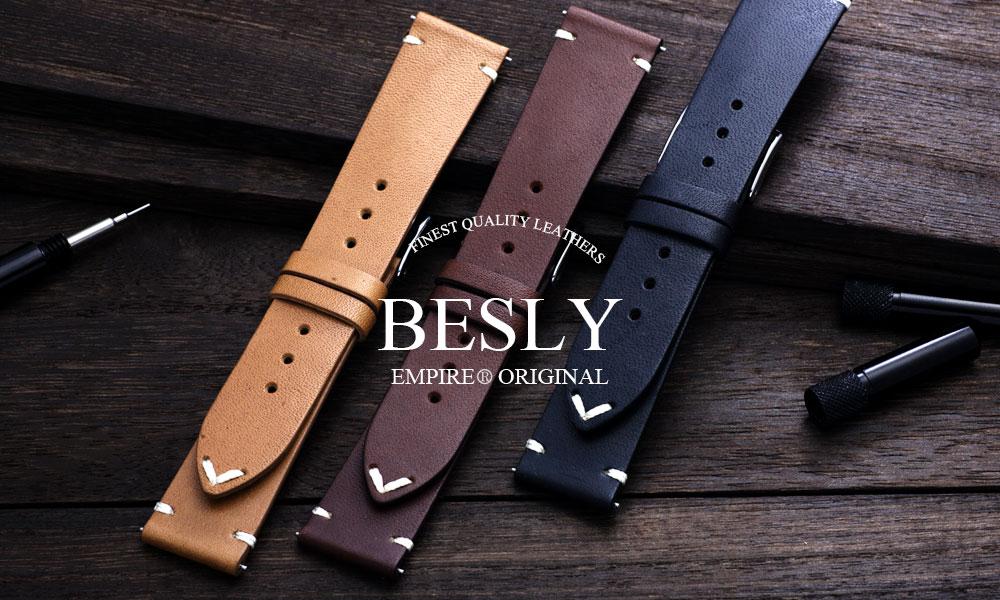 【楽天限定特別価格】EMPIRE BESLY(ベスリー) Horween ホーウィン レザー 腕時計 ベルト 時計 バンド 18mm 20mm