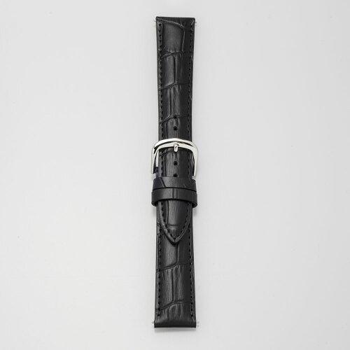 EMPIREBRUNA(ブルーナ)カーフレザー本革クロコ時計ベルト腕時計バンドイージークリック10mm12mm13mm14mm15mm16mm17mm18mm19mm20mmブラック替えベルト