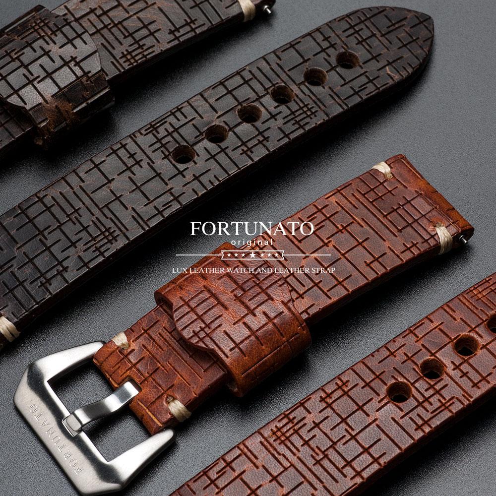 FORTUNATO フォルトゥナート New Cross イタリアンレザー 革 メンズ 時計 ベルト 24mm イージークリック