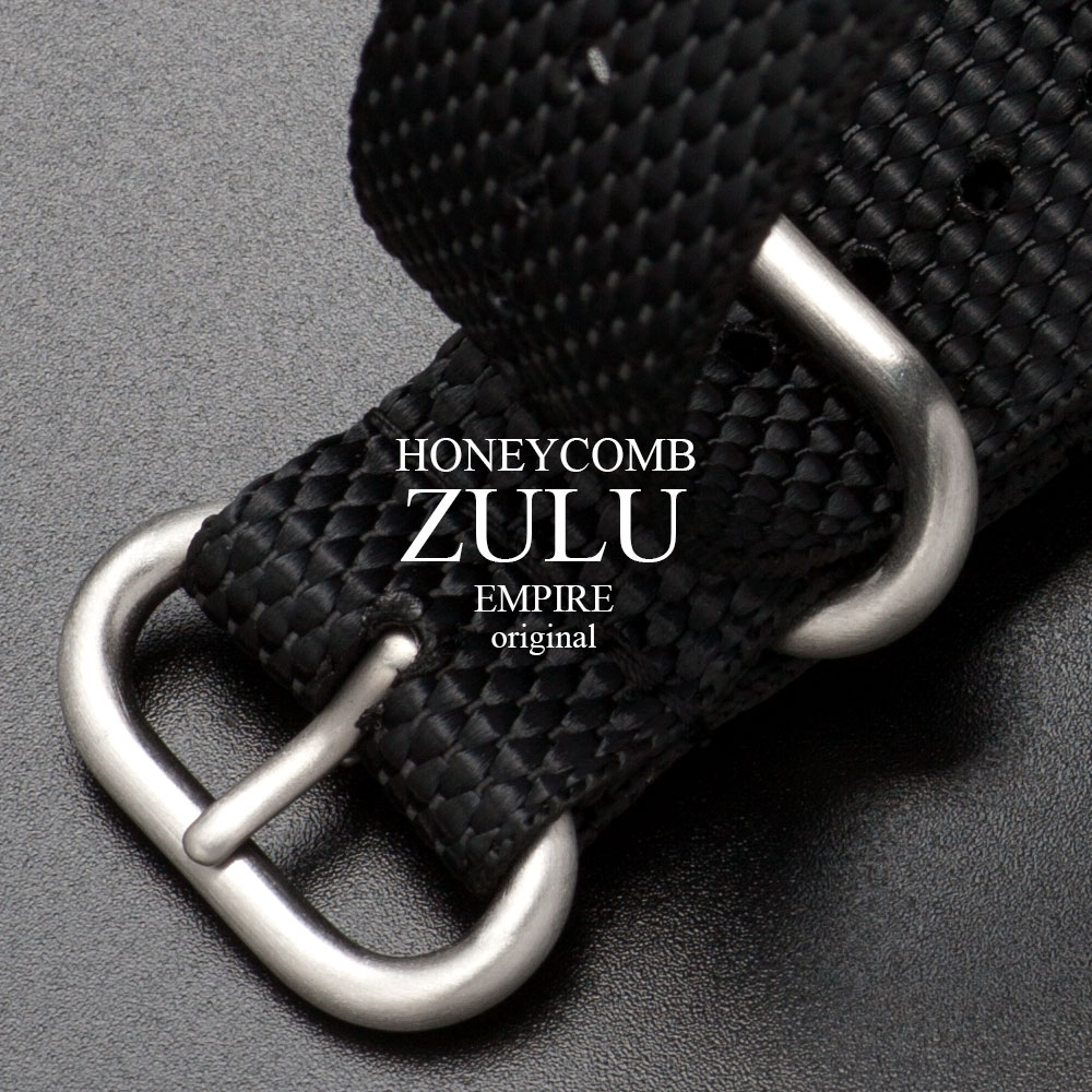 EMPIRE original HONEYCOMB ZULU ハニカム ナイロン ズールー 時計 ベルト 腕時計 バンド 替えベルト ベルト交換 ブラック NATO ナトー 18mm 20mm 22mm